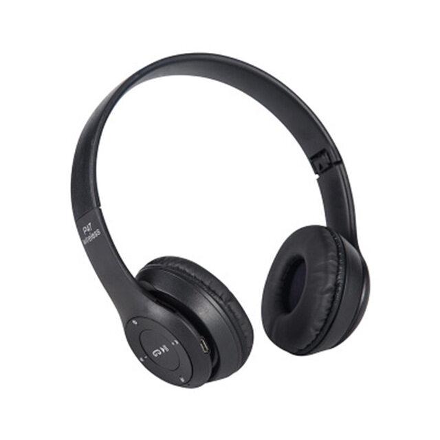 P47 Wireless Headphones หูฟังบลูทูธไร้สาย คมชัดพลังขับขนาดใหญ่ สะใจ รับสายสนทนา เพิ่ม Sd Card ได้ด้วย.