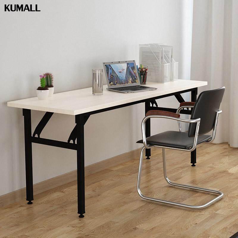 Kumall Chat Inter โต๊ะประชุม โต๊ะพับ ขนาด สปริงพับเก็บได้ แข็งแรงและทนทาน ก60xย120xส75 ซม. (1.2 เมตร) By Kumall.