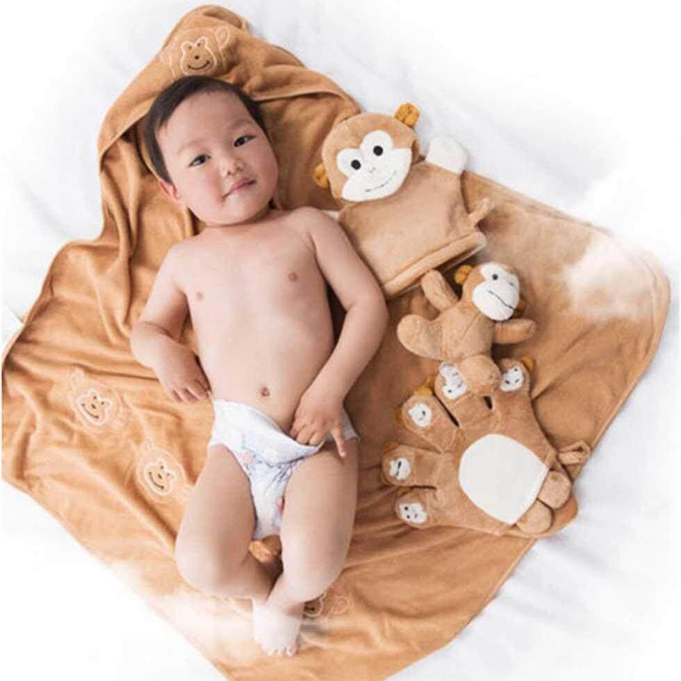 ผ้าห่อตัวเด็ก ผ้าคลุมอาบน้ำ ผ้าคลุมสำหรับว่ายน้ำ By Bestworld.
