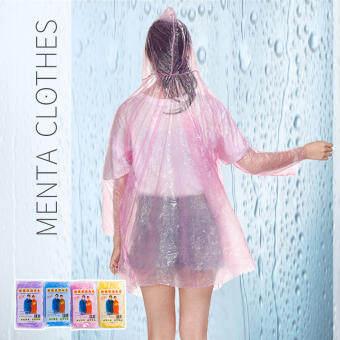 Menta CGHifashion  เสื้อกันฝนแบบใช้แล้วทิ้งสำหรับเดินทางน้ำหนักเบากีฬาทางน้ำเสื้อกันฝนสำหรับผู้ใหญ่