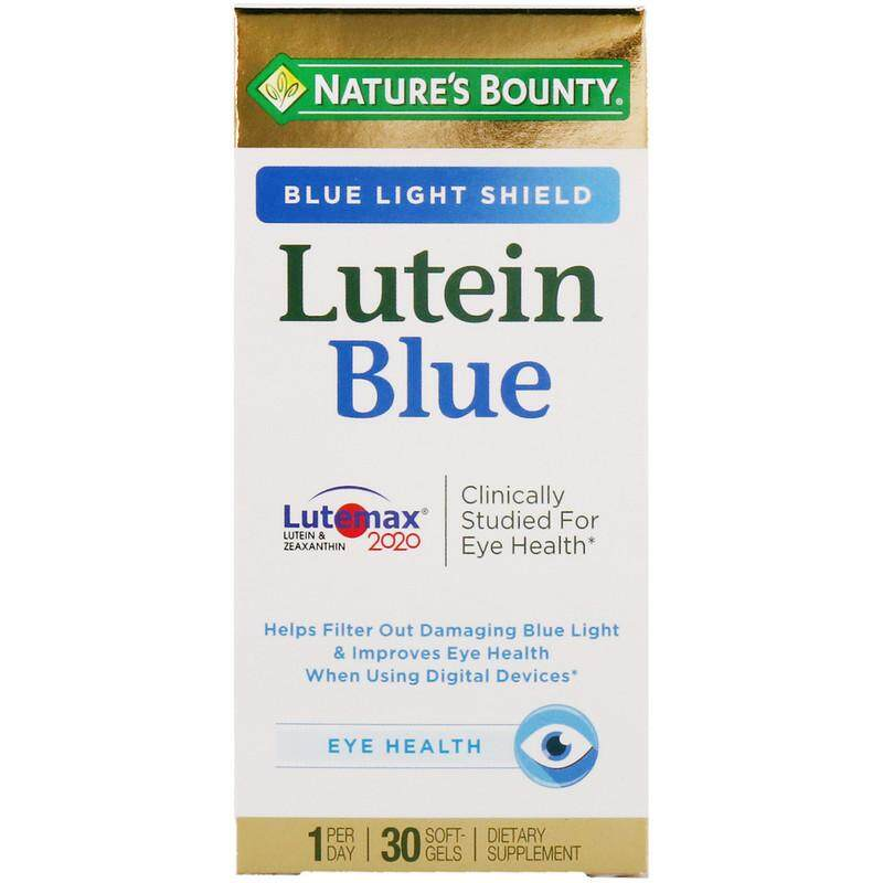 Natures Bounty, Lutein Blue, 30 Softgels ลูทีนบลู อาหารเสริมบำรุงสายตา.