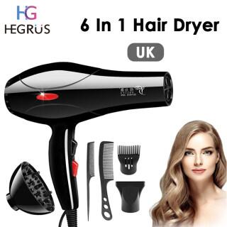 HEGRUS Set Pengering Rambut Beli 1 Gratis 5 Hair Dryer Salon Profesional 2200W Pengering Rambut thumbnail