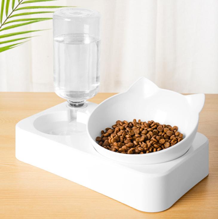 ** พร้อมส่ง ** Bj Pet - ชามน้ำอัตโนมัติ ชามอาหารสัตว์เลี้ยง ชามอาหารแบบเอียง ชามอาหารหมา ชามอาหารแมว สำหรับสัตว์เลี้ยง.