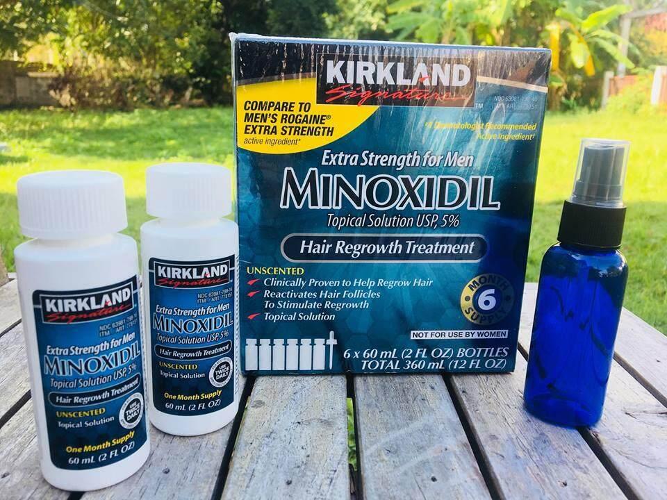 2 ขวด Kirkland Signature ชนิดน้ำ 60 Ml (แถม Free ขวดสเปรย์) รักษาผมร่วง เคิร์กแลนด์ ปลูกผม ปลูกหนวด เซรั่มปลูกผม.