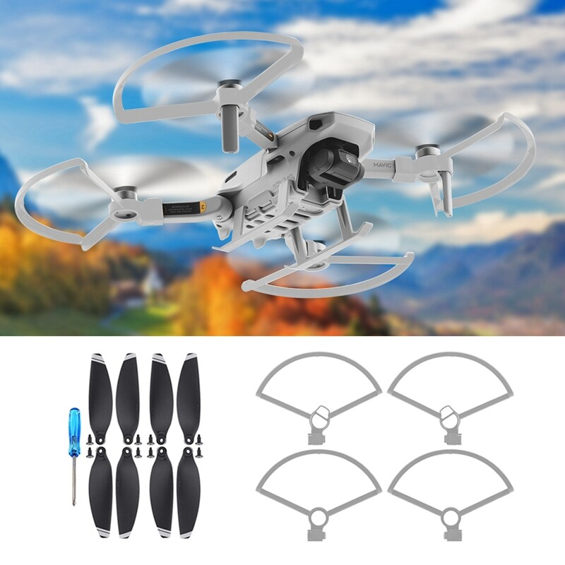Propellers +Protection Ring for DJI Mavic Mini CW CCW 4726F Foldable Low Noise Quick Release Drone Quieter Flight and Powerful Props