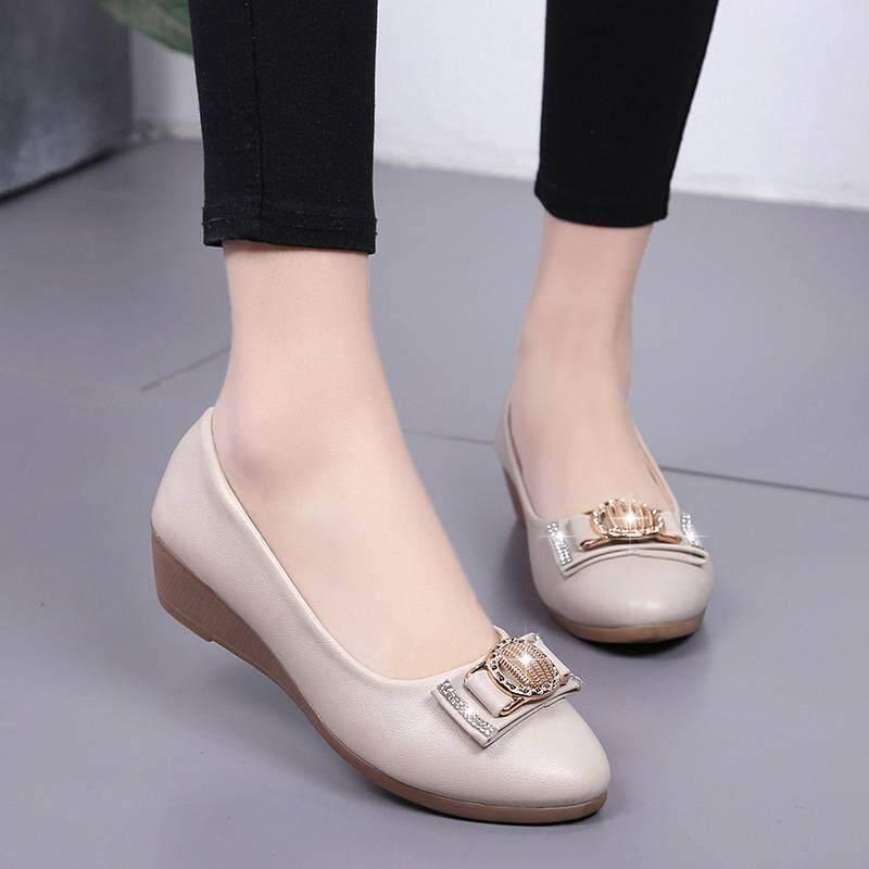 รองเท้า รองเท้าคัทชู รองเท้าหนังpu รองเท้าหุ้มส้น รองเท้าแฟชันสำหรับผู้หญิง No. A08.