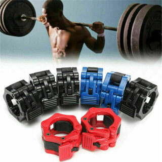 RHY 2Pcs Dumbbell Barbell Spring Gym Lock Body Building Training Dumbell Clips Weight Clamps thumbnail