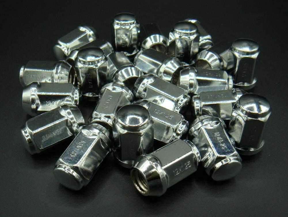 24 ตัว น๊อตล้อแมกซ์โครเมียม เบอร์ 19 เกลียว 1.25 ตัวยาว.