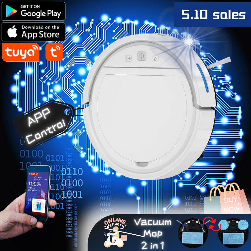 【 WPC-118-2】Vacuum และหุ่นยนต์ถูพื้น App ควบคุม Self-Charging扫地机器人自动充电远程控制