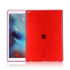 1st Cyber เคสไอแพดแอร์1 Transparent Soft TPU Back Case Cover Skin Shell for Apple iPad Air1 (Red)