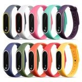 10 Pcs Assorted Colors Fashion Silicone Colorful Replacement Wristband Strap Bracelet Smart Band Accessories For Xiaomi Mi Band 2 Tracker Intl ถูก