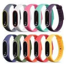 ขาย 10 Pcs Assorted Colors Fashion Silicone Colorful Replacement Wristband Strap Bracelet Smart Band Accessories For Xiaomi Mi Band 2 Tracker Intl Thinch ใน จีน
