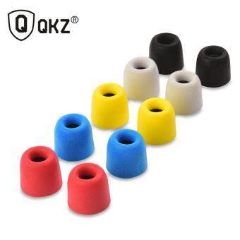 10 pcs Earphone tips Memory Foam QKZ Original 5 Pairs foam tips Comply T400 Ear Pads for all in ear earphone headset headphone - intl