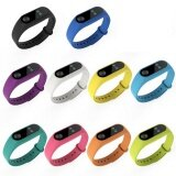 10 Pcs Silicone Replacement Watchband Watch Band Strap For Mi Band 2 Smart Bracelet Intl ถูก