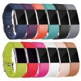 ทบทวน ที่สุด 10 Pcs Soft Silicone Replacement Adjustable Sport Strap For Fitbit Charge 2 Hr Heart Rate Fitness Wristband Intl