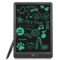 10 แท็บเล็ตการเขียนแอลซีดีดิจิตอลแผ่นบันทึกข้อมูลอิเล็กทรอนิกส์กระดานไร้กระดาษ Handwriting Notepad กระดานดำขนาดเล็กสนับสนุนหน้าจอล็อค, พร้อมปากกา - ปากกา.