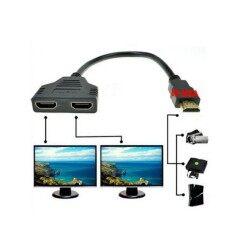 มียอดขายสูงสุด! 1080จุด2พอร์ตhdmi Splitter 1ใน2ออกชายกับf Emal Video C Ableอะแดปเตอร์hdmiสวิทช์แปลงทีวีเครื่องเสียงเครื่องเล่นดีวีดีjan5.