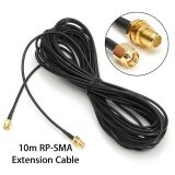 10M Antenna Rp Sma Male To Female Extension Cable Line For Wifi Wireless Router Intl จีน