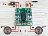 10ชิ้นดิจิตอล Dc 5 V คลาส D ที่บอร์ดโทรโข่ง 2 X 3วัตต์พลังงานมินิยูเอสบี Pam8403 เสียงโมดูล Sg239 Sz จีน