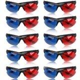 ซื้อ 10Pcs Movie Dvd Dimensional Anaglyph Red Blue Half Frame 3D Vision Glasses Intl Unbranded Generic ถูก