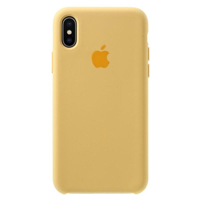 1:1 Scale Liquid Liquid ปลอกซิลิโคนสำหรับ iPhone X (สิบ) - Gold - INTL