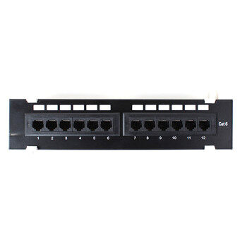 12 Port 10 inch 110 Network Cat6 RJ45 Wall Surface Mount Patch Panel Bracket - Intl