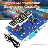 ราคา ราคาถูกที่สุด 12V Intelligent Digital Led Thermostat 9°C 99°C Temperature Controller Te333