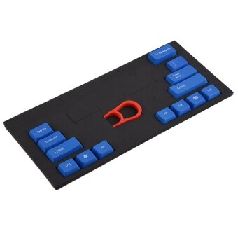 14 Key Caps ABS Mechanical Keyboards Keycap with Key-Cap Puller Remover Blue - intl