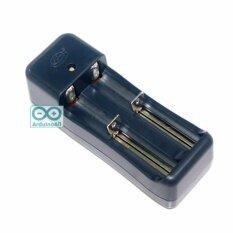 Di shop 18650 / 18500 / 14500 / 14505 / 16340 / 100V-220V 3.7V Li-ion Universal Charger for Rechargeable Li-ion Battery รุ่น TG-002 ที่ชาร์จถ่าน ที่ชาร์จแบตเตอรี่ อเนกประสงค์ อุปกรณ์ชาร์จ รองรับหลายขนาด ชาร์จพร้อมกันได้ 2 ก้อน ขาปลั๊ก พักเก็บได้ สีดำ