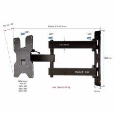 ราคา ขาแขวนทีวี 19 42 Inch Led Lcd Tv Full Motion Single Arm Tv Wall Mount รุ่น S42 เป็นต้นฉบับ