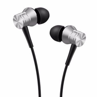 1More E1009 หูฟังมีไมค์บอดี้อลูมีเนียมพร้อมสาย Kevlar อย่างดี (สีเงิน)