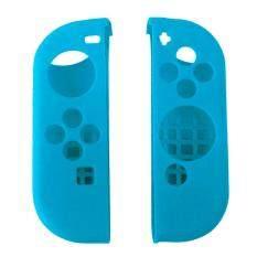 1 คู่แบบพกพาเคสป้องกันซิลิโคนเคสลื่น Skin Guard สำหรับซ้ายขวา Nintendo Switch Joy - Con Controller Blue - Intl.