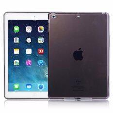 1st Cyber เคสไอแพดแอร์1 Transparent Soft TPU Back Case Cover Skin Shell for Apple iPad Air1 (Black)