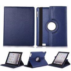 """1st Shopเคสไอแพด แอร์1รุ่น""""หมุนแนวตั้งและแนวนอนได้360องศา"""" For Apple iPad Air 1 360 degree rotating (สีน้ำเงิน)(สำน้ำเงินเข้ม)"""