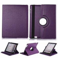 "1st Shopเคสไอแพด แอร์2รุ่น""หมุนแนวตั้งและแนวนอนได้360องศา"" For Apple iPad Air 2 360 degree rotating (สีม่วง)(Purple)"