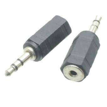 2.5mm Male Plug to 3.5mm Female Jack Stereo Audio Adapter Headphone Converter (Intl)