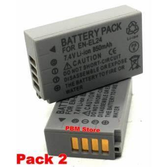 (แพ็คคู่ 2 ชิ้น) Battery แบตเตอรี่กล้อง รหัส EN-EL24 Replacement Battery for Nikon 1 J5 -