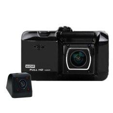 """กล้องติดรถยนต์ 2 ตัว หน้าหลัง Car DVR Camera 1080P 3.0"""" Video Recorder Registrator G-Sensor"""