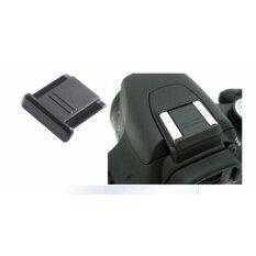 2ชิ้น ตัวปิดช่องแฟลช แบบเรียบสีดำ Hot Shoe Cover For Canon Nikon Olympus Pentax Panasonic Dslr Pl.