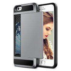 ราคา 2 ใน 1 ซิลิโคนและพลาสติกสำหรับแอปเปิ้ล Iphone 7 พลัส 5 5 พร้อมช่องใส่บัตรเครดิตโทรศัพท์มือถือกรณี จีน