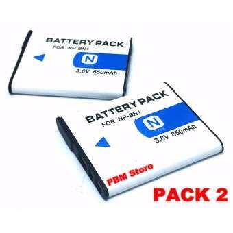 (แพ็คคู่ 2 ชิ้น)แบตกล้อง รุ่น NP-BN1 แบตเตอรี่กล้องโซนี่ Sony DSC-W650, W690, W710, W730, W800, W830, DSC-WX5, WX7, WX9, DSC-TX7, TX9, T99, T110 Replacement Battery for Sony-