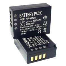 (แพ็คคู่2ชิ้น) แบตเตอรี่กล้อง รหัสแบต NP-W126,NPW126 1260mAh แบตกล้องฟูจิfuji for fuji Replacement Battery for Fujifilm แบตเตอรี่ SPA สำหรับกล้อง X-Pro1 X-E1 X-M1 X-M2 X-A1 X-A2 X-E2 X-T1 FinePix HS30EXR 35EXR X-T10(Black)by win store