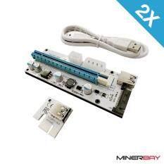 ราคา 2 Pack Usb Sata Pcie Riser Card For Cryptocurrency Mining V 008S All Port Riser All Port เป็นต้นฉบับ