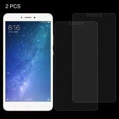 โปรโมชั่น 2 Pcs Xiaomi Mi Max 2 3Mm 9H Surface Hardness 2 5D Explosion Proof Non Full Screen Tempered Glass Screen Film Intl