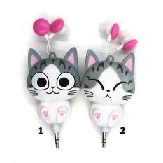 ขาย 2ชิ้นแบบน่ารักลายการ์ตูนชีสหูฟังหูฟังแมวเมตรสำหรับโทรศัพท์มือถือภาพการ์ตูนกีฬาหูโทรศัพท์ ราคาถูกที่สุด