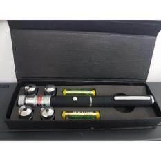 เลเซอร์ สีเขียว 2000 mW Green Laser pointer เปลี่ยนหัวได้ 5 แบบ พร้อมแบต 2 ก้อน