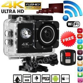 2017 กล้องกันน้ำ ถ่ายใต้น้ำ พร้อมรีโมท Sport camera Action camera 4K Ultra HD waterproof WIFI FREE Remote BLACK