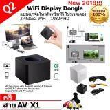 ขาย ใหม่ 2018 Q1 Plus Q2 Wifi Display Wireless Wifi 2 4G 5G ตัวแปลงสัญญาณภาพ Hd Av Output ภาพมือถือขึ้นทีวี 1080P Screen Mirroring Adapter Hdmi Mini Receiver Support Airplay Dlna Miracast For Ios Android Windows Tv Projector แถมสาย Av มูลค่า 199 บาท 1 เส้น Hdmi ออนไลน์