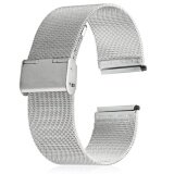 ราคา 20Mm Stainless Steel Mesh Bracelet Watch Band Replacement Strap For Men Women Intl จีน