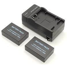 (ชุดสุดคุ้ม2+1) แบตเตอรี่กล้อง รหัสแบต LP-E17,LPE17 1050mAh แบตกล้องแคนนอนcanon for Canon 1040mAh for Canon D-SLR EOS 750D , EOS 760D , EOS M3 (แบต 2 ก้อน+เครื่องชาร์ท 1 เครื่อง) (Black)
